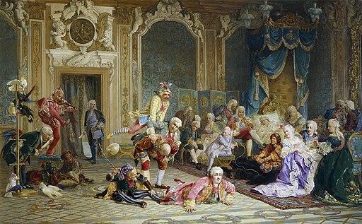 Jesters of empress Anna Ioanovna by V.Jacobi (1872)