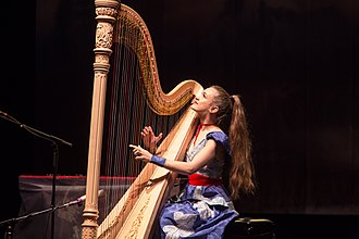 Joanna Newsom - Newsom performing at the Orpheum Theatre, Boston, Massachusetts, 2015.