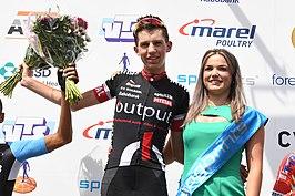 Jody Jochems na het winnen van Daags na de Tour