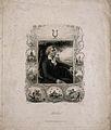 Johann Christoph Friedrich von Schiller, seated in a bosky l Wellcome V0005290.jpg