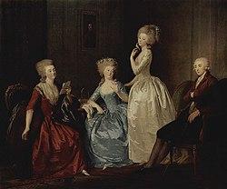 Johann Friedrich August Tischbein: Portrait of the Saltykov Family