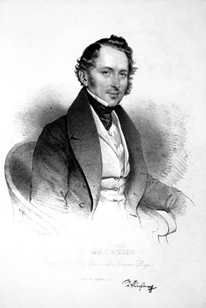 Johann Michael Wächter - Johann Michael Wächter, lithograph by Josef Kriehuber, 1834