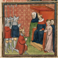 John, king of Scotland, being brought before Edward I.png