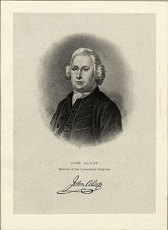 John Alsop - Lithograph of Alsop by Max Rosenthal, ca. 1885