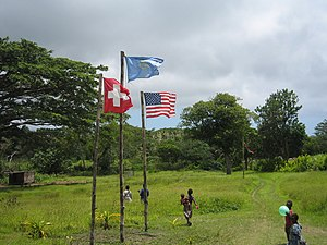 John Frum - John Frum cargo cult and their ceremonial flag raising