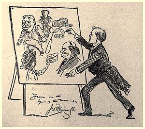 John Wilson Bengough - Bengough toured giving chalk talks internationally.