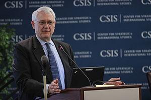 John Hamre - John Hamre, President and CEO of the Center for Strategic and International Studies, in Washington, D.C. in February 2013