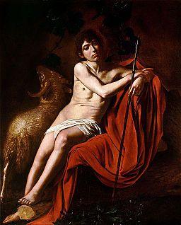 John the Baptist (Galleria Borghese)-Caravaggio (1610)