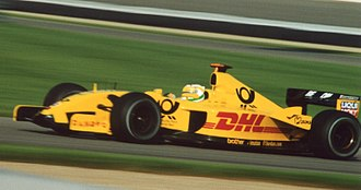 Giancarlo Fisichella - Fisichella driving for Jordan at the 2002 US GP.