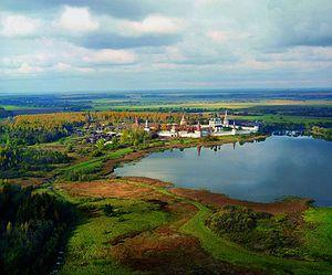 Joseph-Volokolamsk Monastery - Bird's-eye view.