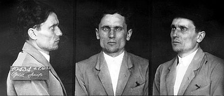 Tito's mug shot after arrest for communist activities in 1928 Josip Broz Tito in prison 1928.jpg