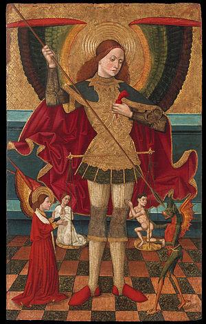 Predestination - Juan de la Abadía el Viejo. Saint Michael Weighing Souls.