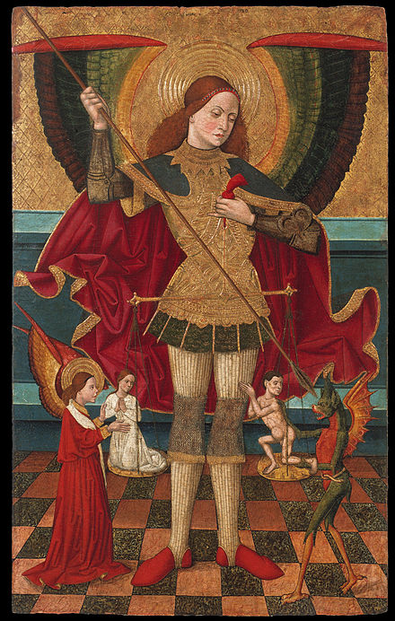 Juan de la Abadia el Viejo: Saint Michael Weighing Souls Juan de la Abadia, 'The Elder' - Saint Michael Weighing Souls - Google Art Project.jpg