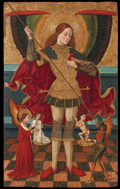 Juan de la Abadía, 'The Elder' - Saint Michael Weighing Souls - Google Art Project