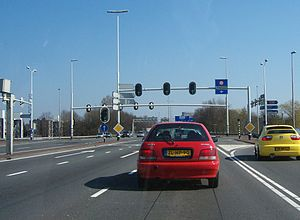 A7 motorway (Netherlands) - Interruption of the A7 in Groningen.