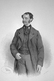 Julius Benedict, Lithographie von Josef Kriehuber, 1861 (Quelle: Wikimedia)