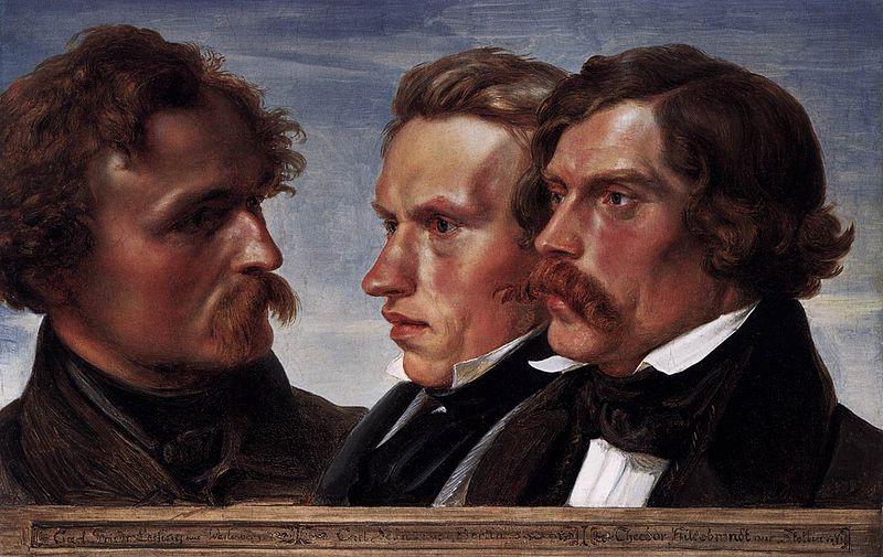File:Julius Hübner - Carl Friedrich Lessing, Carl Sohn, and Theodor Hildebrandt - WGA11830.jpg