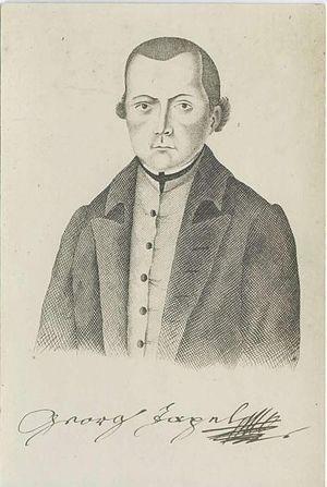 Jurij Japelj - Engraved portrait of Jurij Japelj