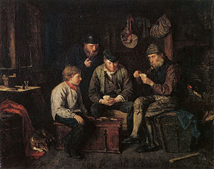Åland Sailors Playing Cards in a Log Cabin (The Ace of Clubs)