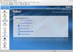 Screenshot of KMyMoney 4.5.3