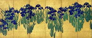 Ogata Kōrin - Image: KORIN Irises R