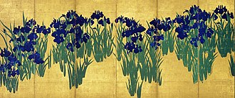 Irises screen - Image: KORIN Irises R
