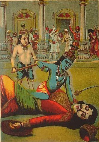 Kamsa - Krishna kills Kamsa