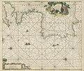 Kaart van de kust tussen Calais en Cadiz Paskaert van Cales tot Cadix (titel op object), RP-P-OB-67.829.jpg