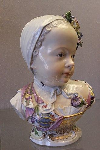 Marie Zéphyrine of France - Meissen porcelain portrait head