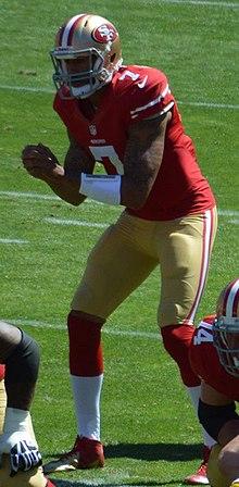 Kaepernick nella gara di debutto della stagione 2013 contro i Green Bay Packers.