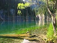 Kaindy lake south-east Kazakhstan.jpg