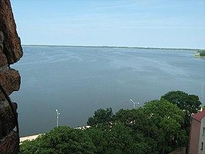 Kamieński Lagoon - A view of Kamieński Lagoon from Kamień Pomorski.
