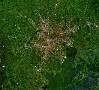 Kampala - View of Kampala from space