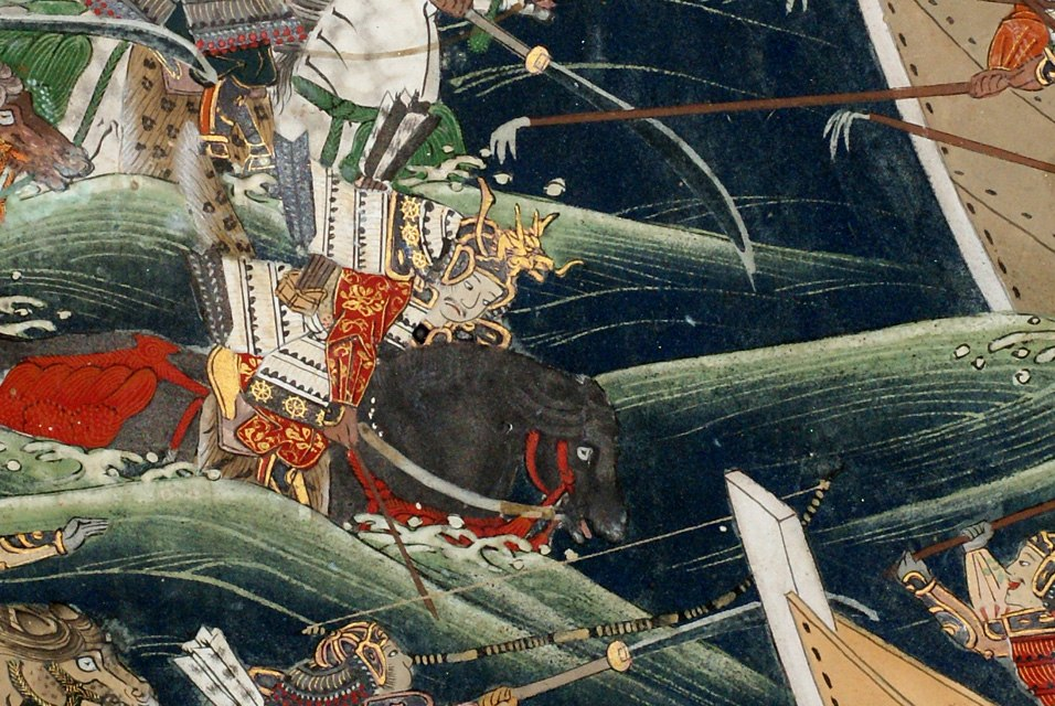 Kano school, detail of Screen with Scenes from the Tales of Heike, Clark Center for Japanese Art