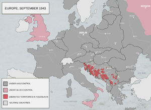 Adriatic Campaign of World War II - Capitulation of Italy and uprising in occupied Yugoslavia 1943.
