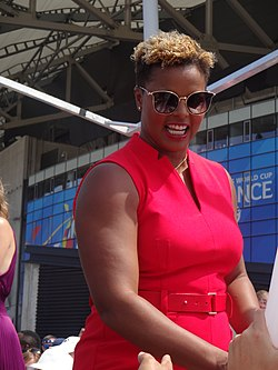 Karina LeBlanc at the FIFA Women's World Cup 2019 Final (1).jpg