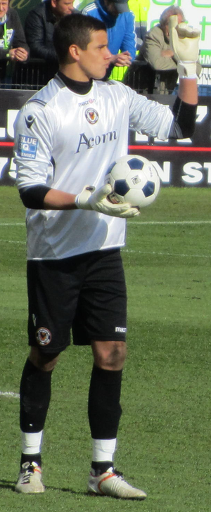 Karl Darlow - Darlow playing for Newport County in 2012