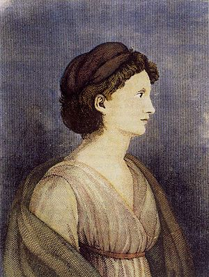 Karoline von Günderrode - Karoline von Günderrode, c. 1800, by an anonymous painter; Historical Museum, Frankfurt am Main