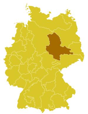 Roman Catholic Diocese of Magdeburg - Image: Karte Bistum Magdeburg