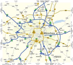 Bundesautobahn 99 - detailed map
