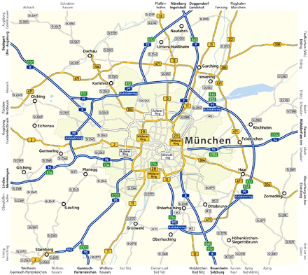 Munich motorway network