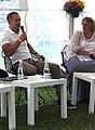 Katrin Pihor (paremal) 2020. aastal Arvamusfestivali teadusalal (vasemal Henry Kattago).jpg