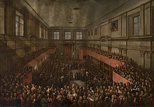 Great Sejm - Great, or Four-Year, Sejm (1788–92) and Senate adopt Constitution of May 3, 1791, at Warsaw's Royal Castle.