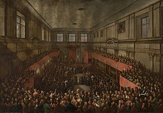 "Senate of Poland - In 1791, the ""Great Sejm"" or ""Four-Year Sejm"" of 1788–1792 and Senate adopt the May 3rd Constitution at the Royal Castle in Warsaw"