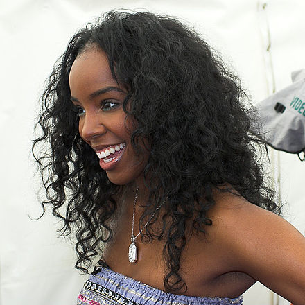 Rowland backstage at T4 on the Beach in Weston-Super-Mare, England, July 2008. Kelly Rowland 1.jpg