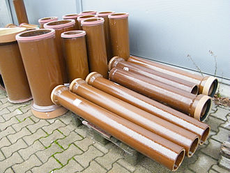 Vitrified clay pipe - Glazed ceramic pipes, manufactured in the EU