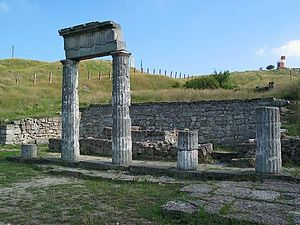Kerch - Ruins of Panticapaeum. 6th century BC