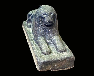 Khyan - Lion inscribed with the cartouche of Khyan, British Museum, EA 987.