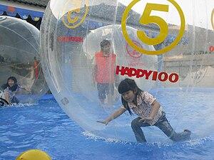 Water ball - Children in water balls in Kaohsiung, Taiwan