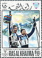 Killy and Perillat 1968 Ras al-Khaimah stamp.jpg